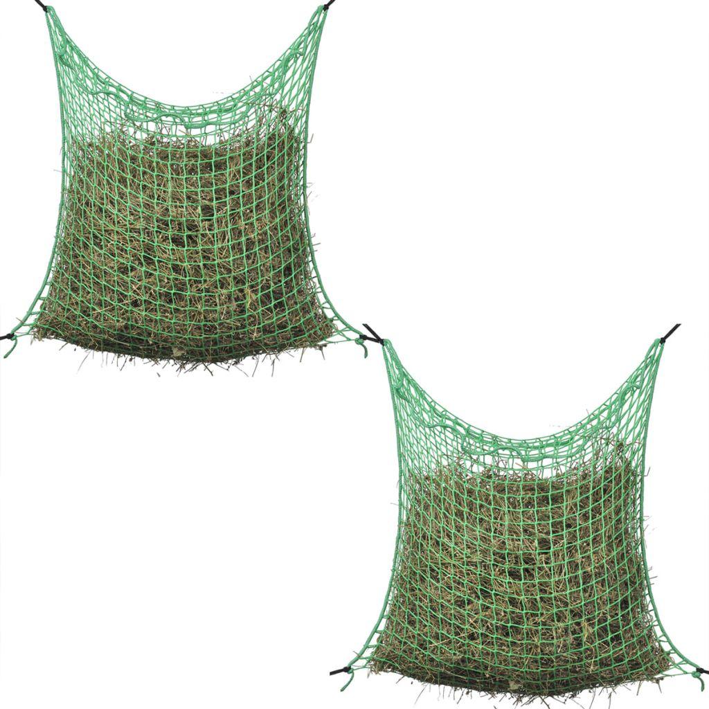 vidaXL Štvorcová sieťka na seno, 2ks, 0.9x1 m, PP