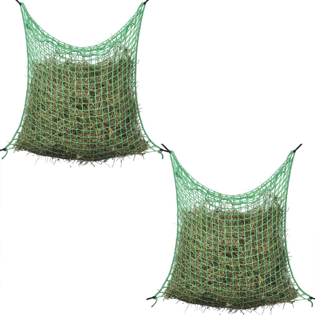 vidaXL Štvorcová sieťka na seno, 2ks, 0.9x1.5 m, PP