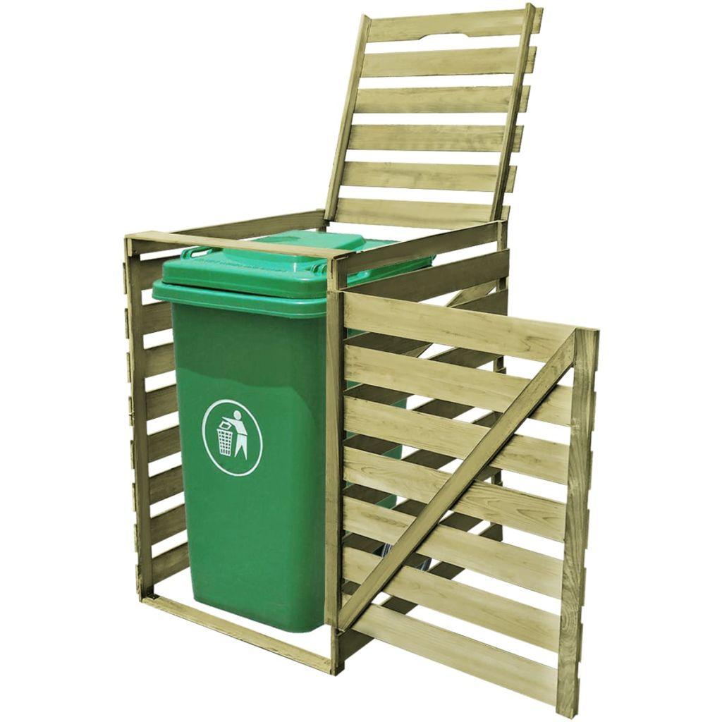 vidaXL Impregnovaná drevená ohrada na vonkajší odpadkový kôš 240 l