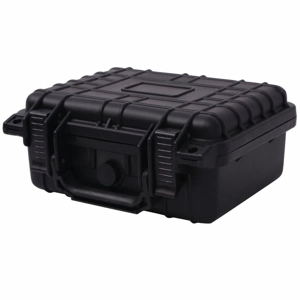 vidaXL Ochranný kufrík na náradie, 27 x 24.6 x 12.4 cm, čierny