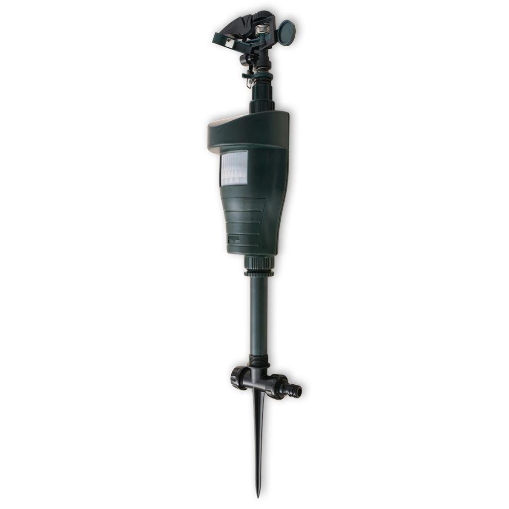 vidaXL Vodný odpudzovač zvierat s PIR senzorom, tmavozelený