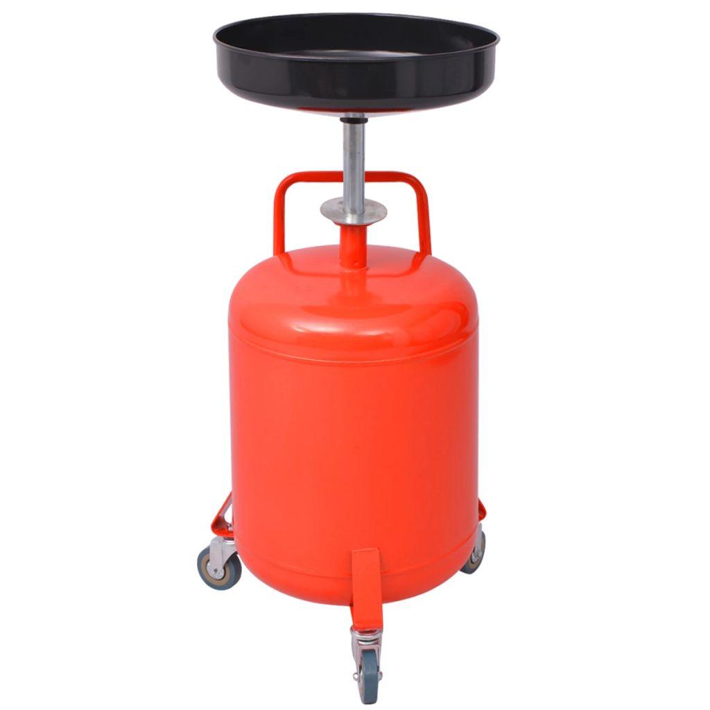 vidaXL Odsávačka odpadového oleja, 49.5 l, oceľ, červená