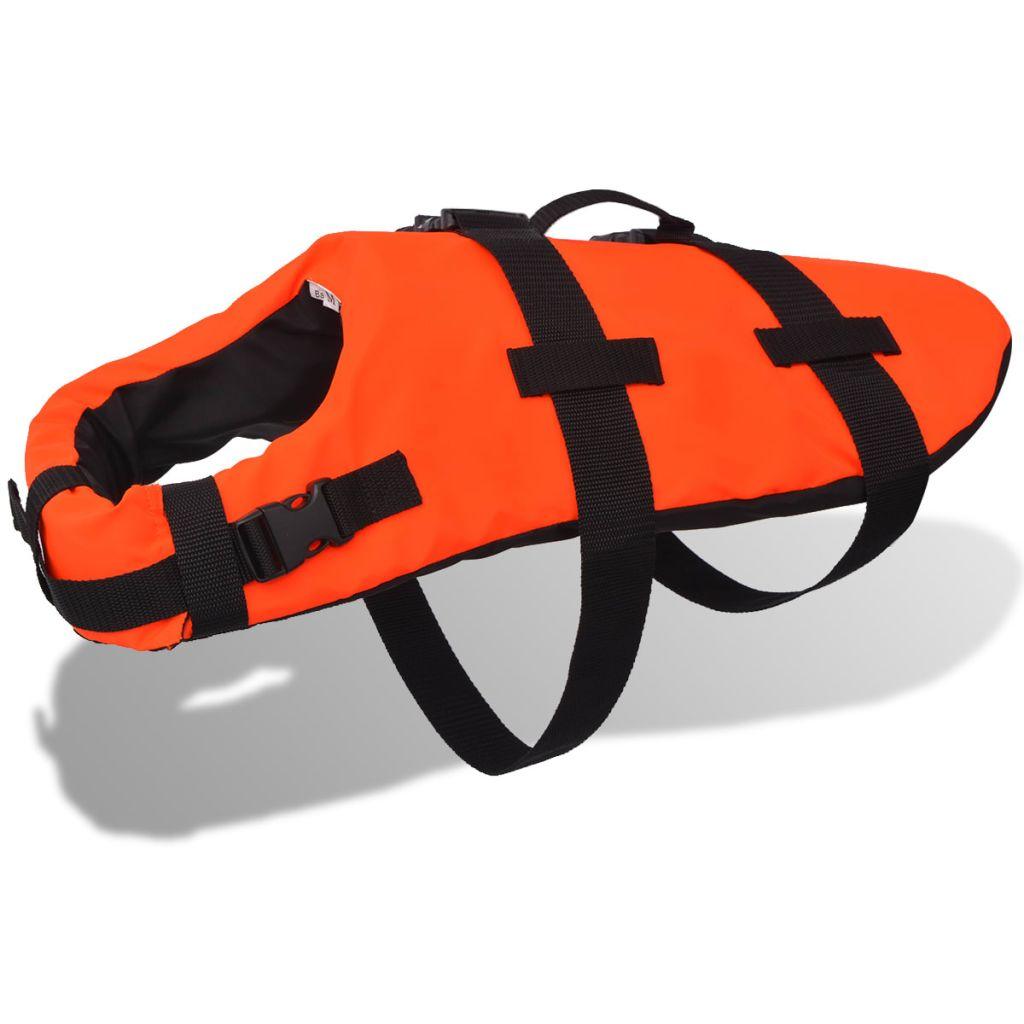 vidaXL Záchranná vesta pre psa, L, oranžová