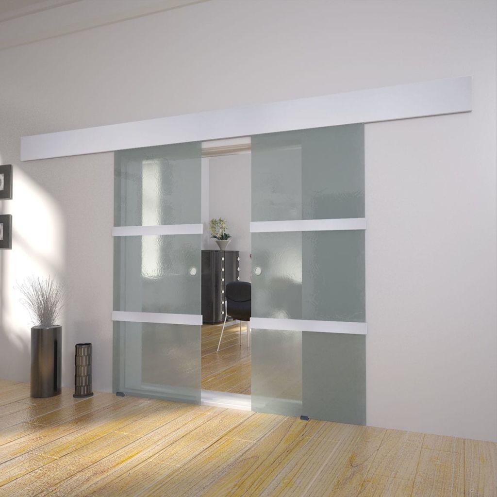 Dvojkrídlové sklenené posuvné dvere