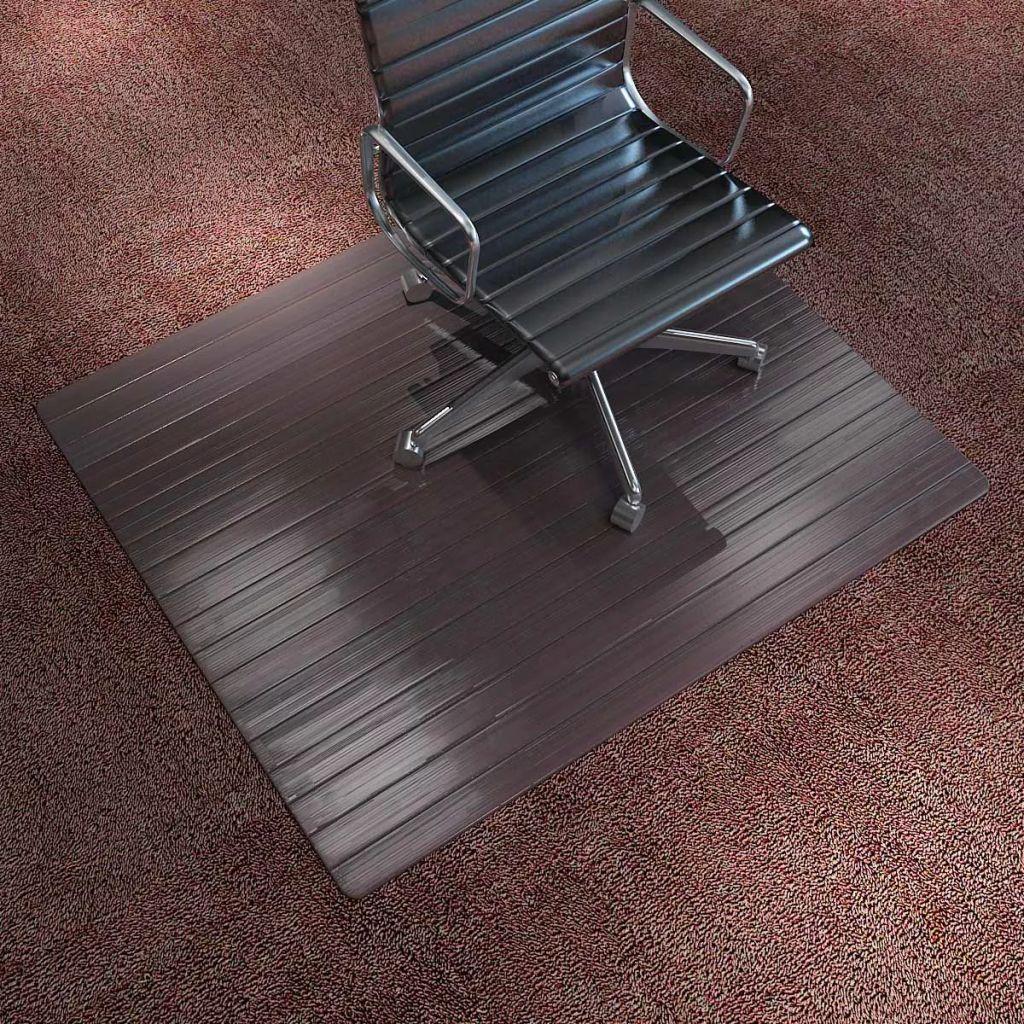 vidaXL Ochranná podložka pod stoličku, bambusová, hnedá, 110x130 cm