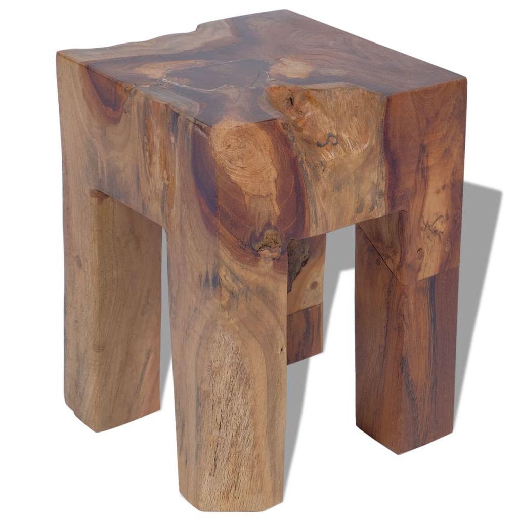 vidaXL Taburetka z masívneho teakového dreva, 30x30x40 cm