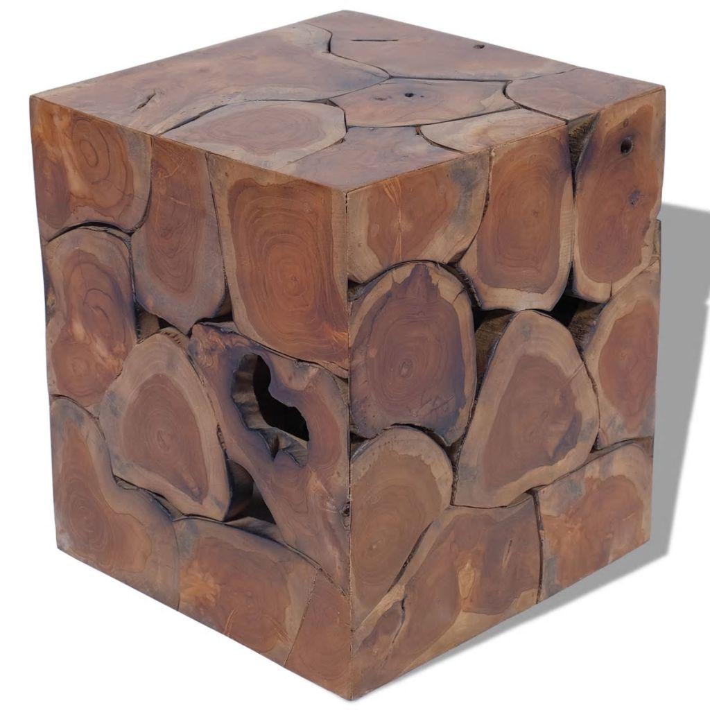 vidaXL Sedadlo z masívneho teakového dreva, 40x40x45 cm