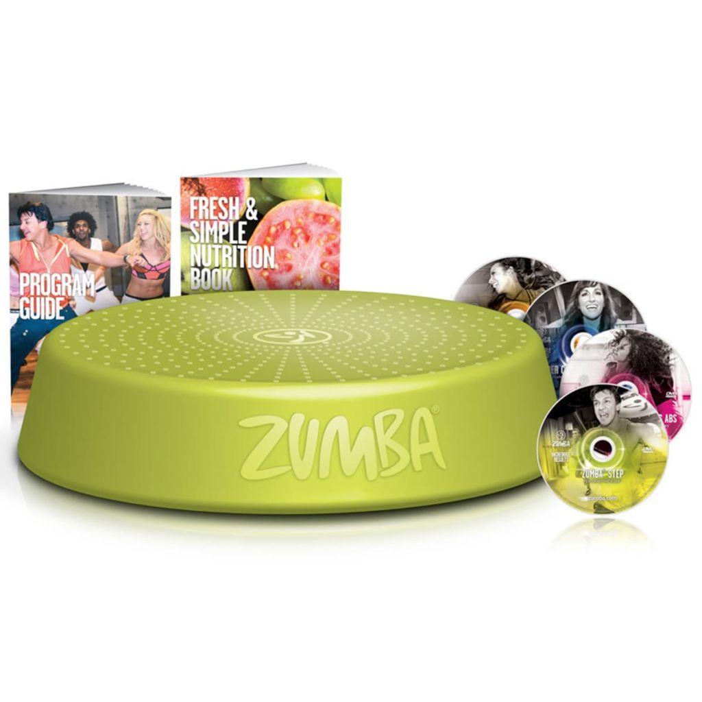 Zumba Stupienok na cvičenie zumby so 4 tréningovými DVD, zelený, ZUS001