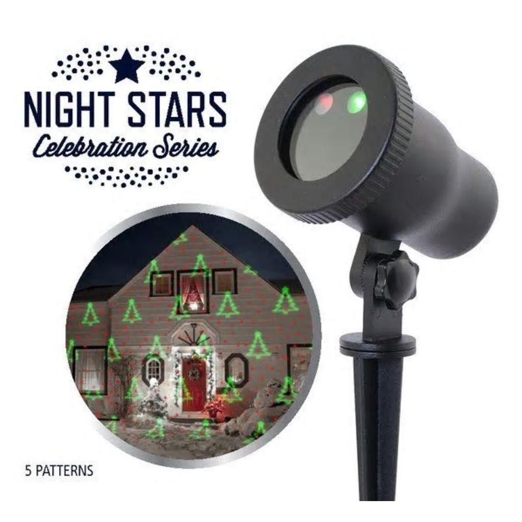 Night Stars Laserové svetlo s 5 vzormi, NIS003