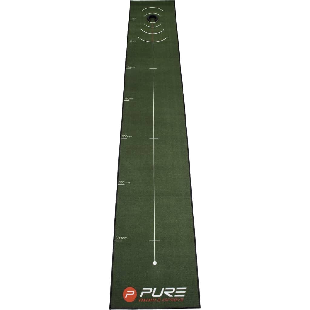 Pure2Improve Tréningová podložka na golf 400x66 cm
