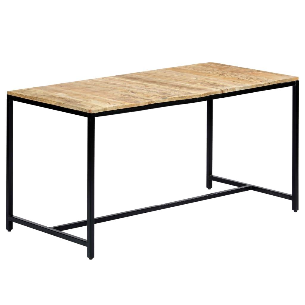 vidaXL Jedálenský stôl 140x70x75 cm surové masívne mangovníkové drevo