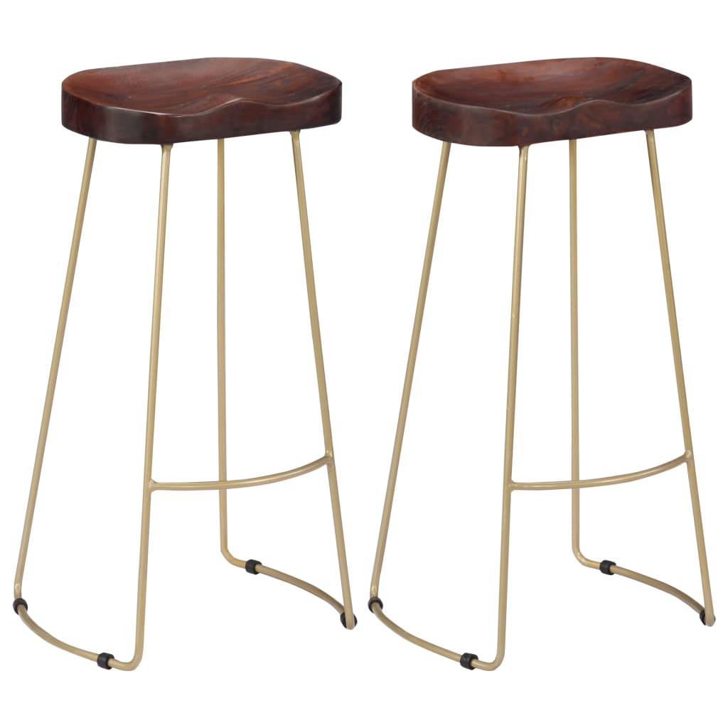 vidaXL Barové stoličky z mangového dreva Gavin 2 ks 45x40x78 cm
