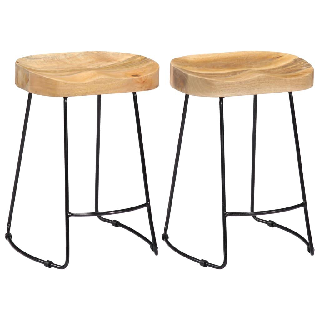 vidaXL Barové stoličky z mangového dreva Gavin 2 ks 46x38x52 cm
