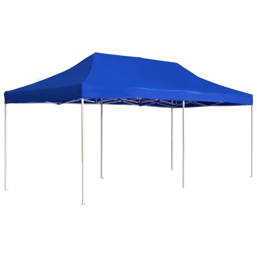 vidaXL Profesionálny skladací párty stan hliníkový 6x3 m modrý