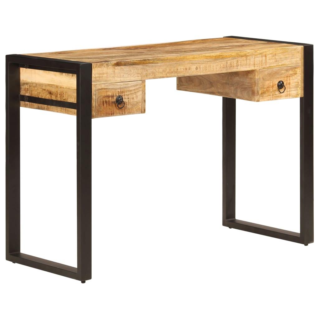 vidaXL Stôl z mangovníkového dreva s 2 zásuvkami 110x50x77 cm
