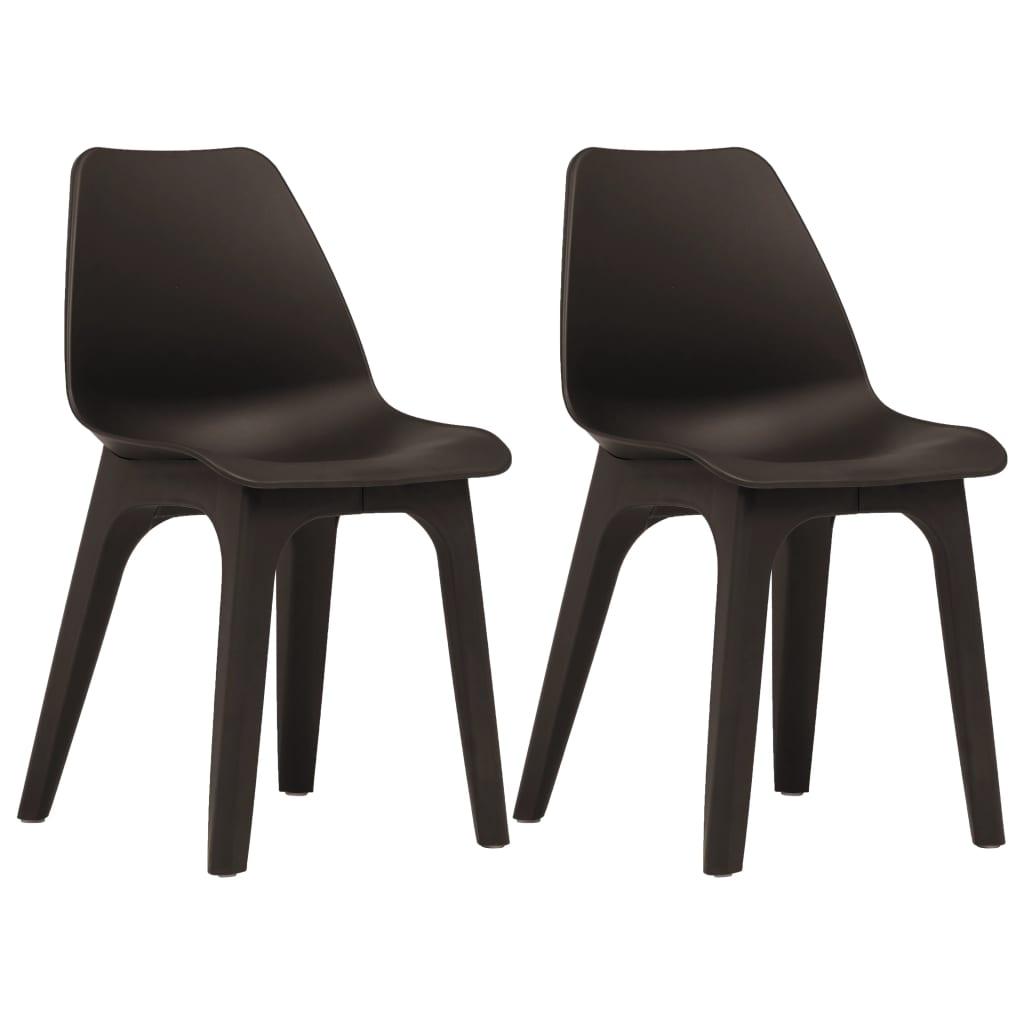 vidaXL Skladacie stoličky 2 ks hnedé plastové