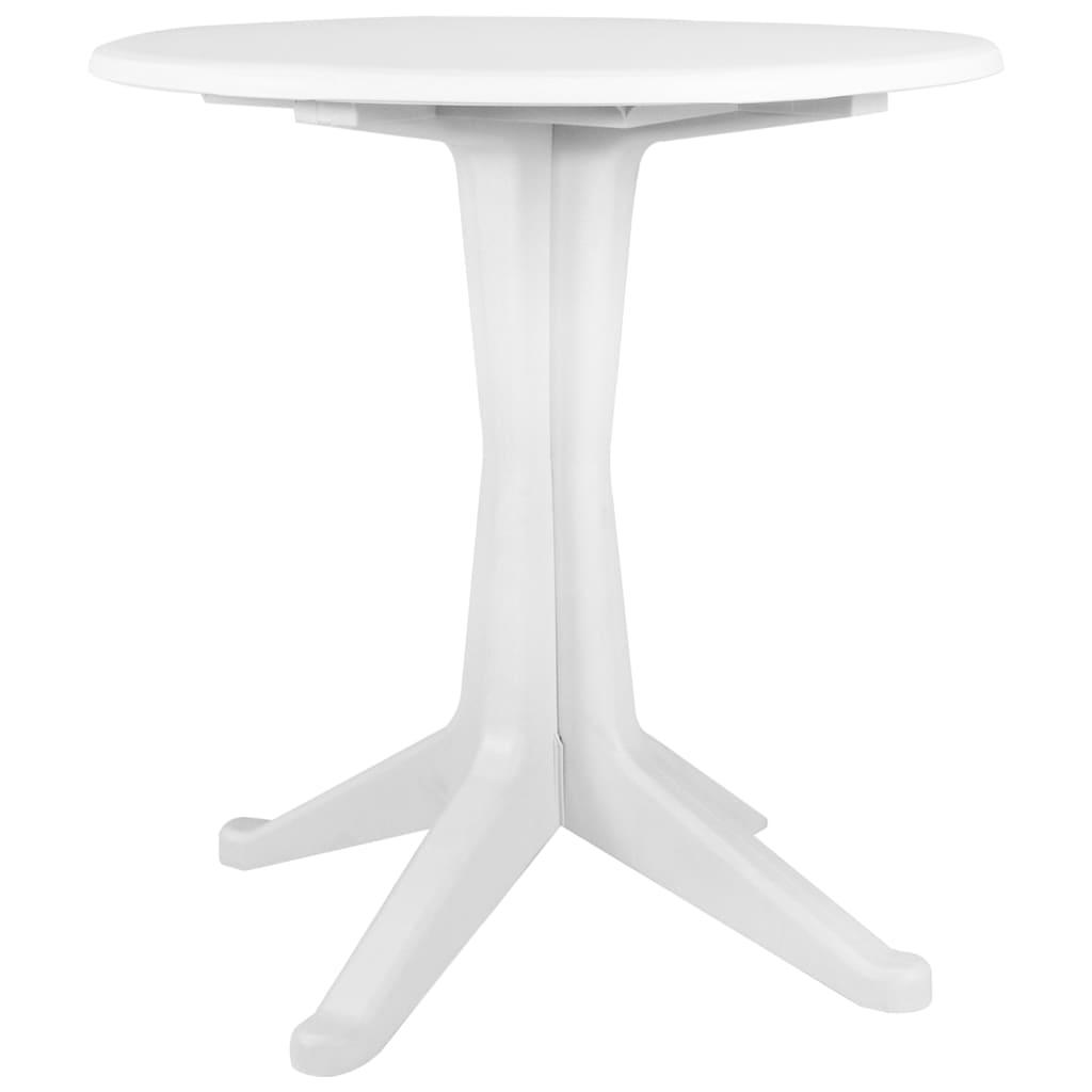 vidaXL Záhradný stôl biely 70 cm plastový