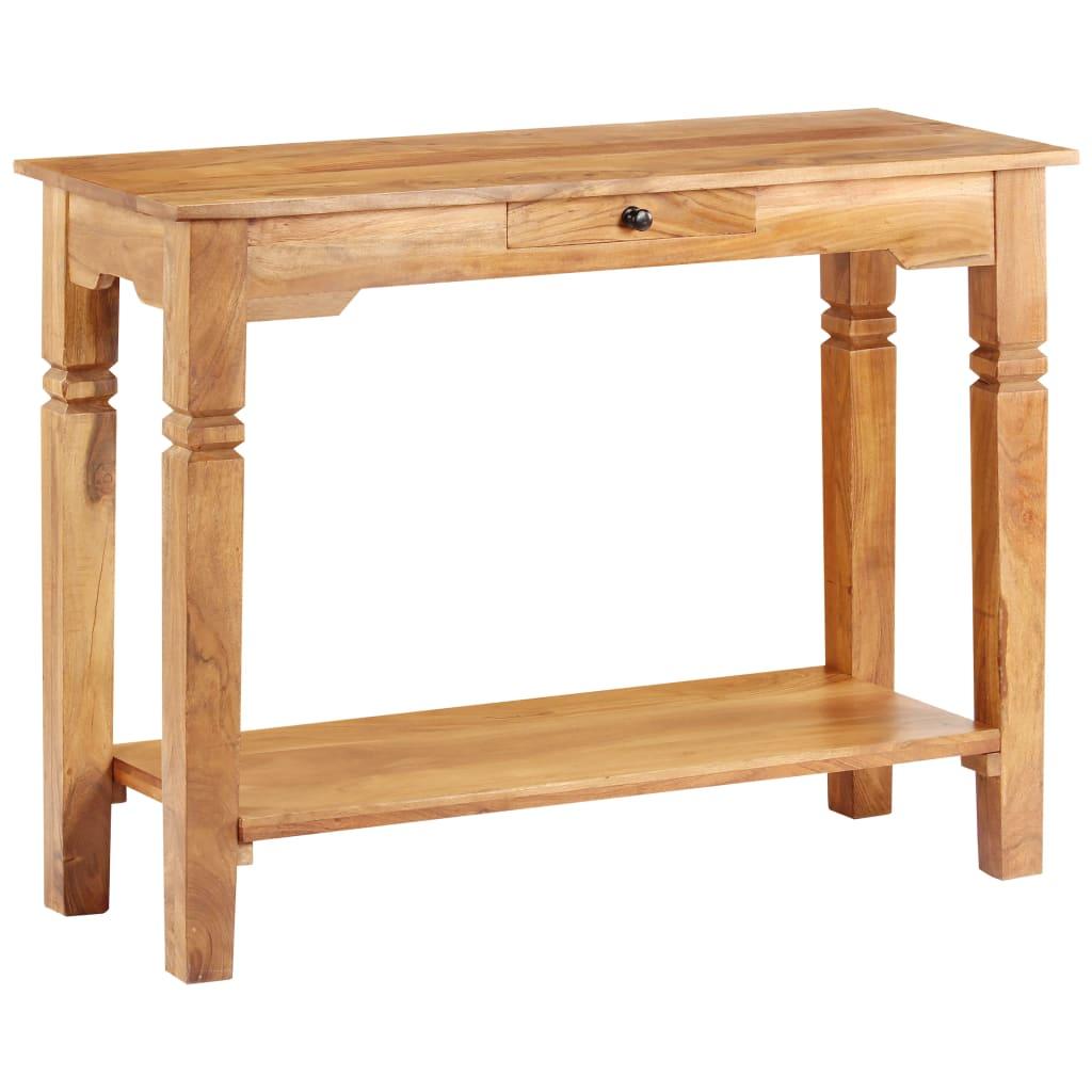 vidaXL Konzolový stolík 100x40x76 cm masívne akáciové drevo