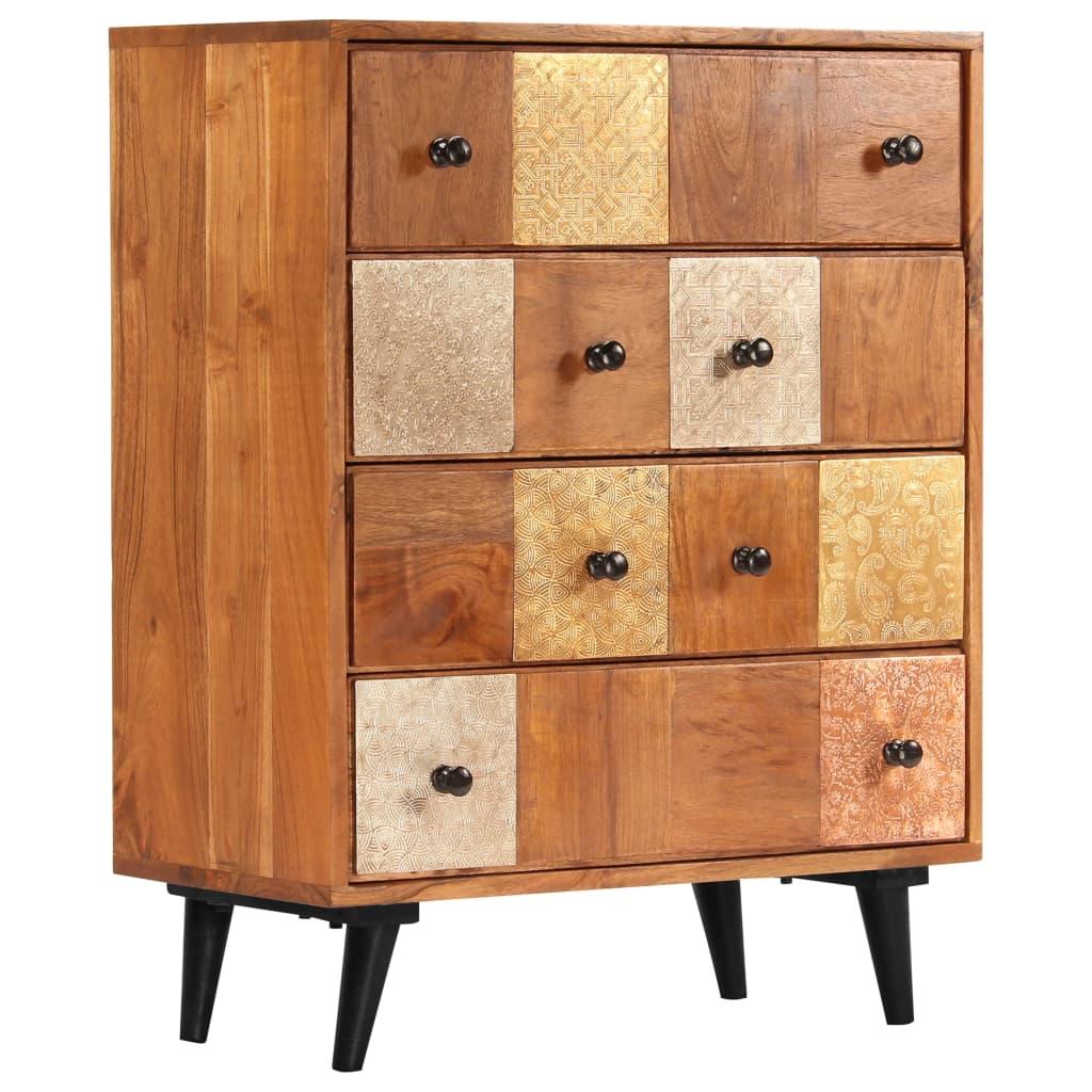 vidaXL Zásuvková skrinka z akáciového dreva 60x30x75 cm
