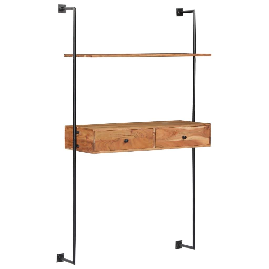 vidaXL Nástenný stôl z akáciového dreva 90x40x170 cm