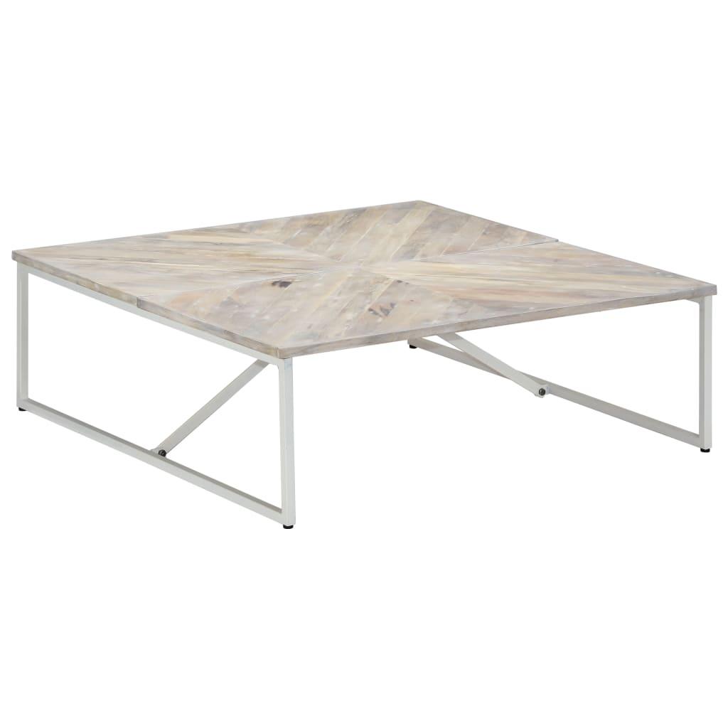 vidaXL Konferenčný stolík 110x110x36 cm masívne mangovníkové drevo