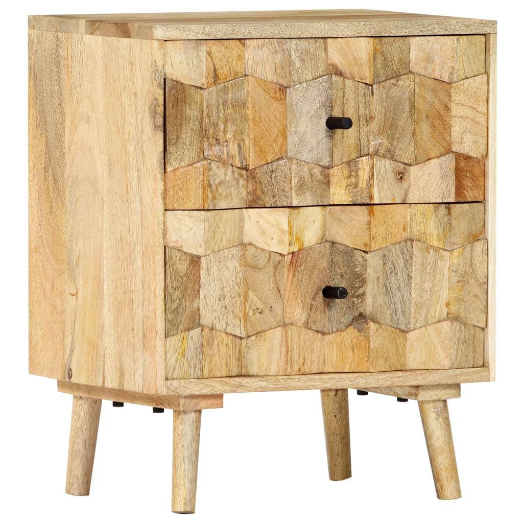 vidaXL Nočná skrinka 40x30x50 cm masívne mangovníkové drevo