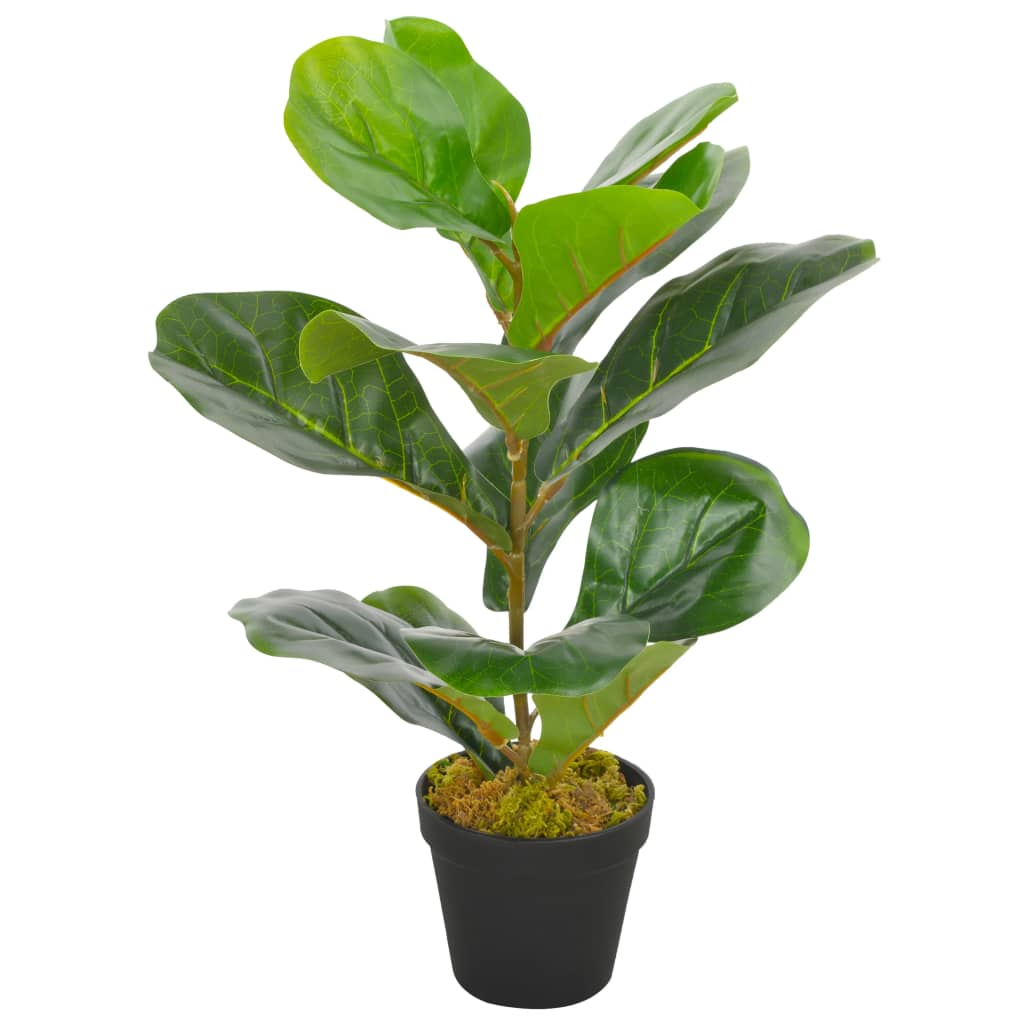 vidaXL Umelá rastlina figovník s kvetináčom zelený 45 cm