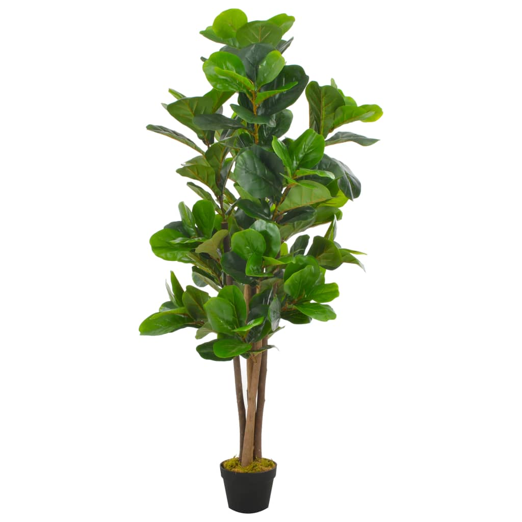 vidaXL Umelá rastlina figovník s kvetináčom zelený 152 cm