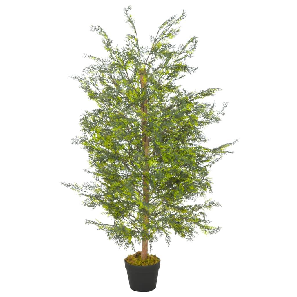 vidaXL Umelá rastlina strom cyprus s kvetináčom zelená 120 cm