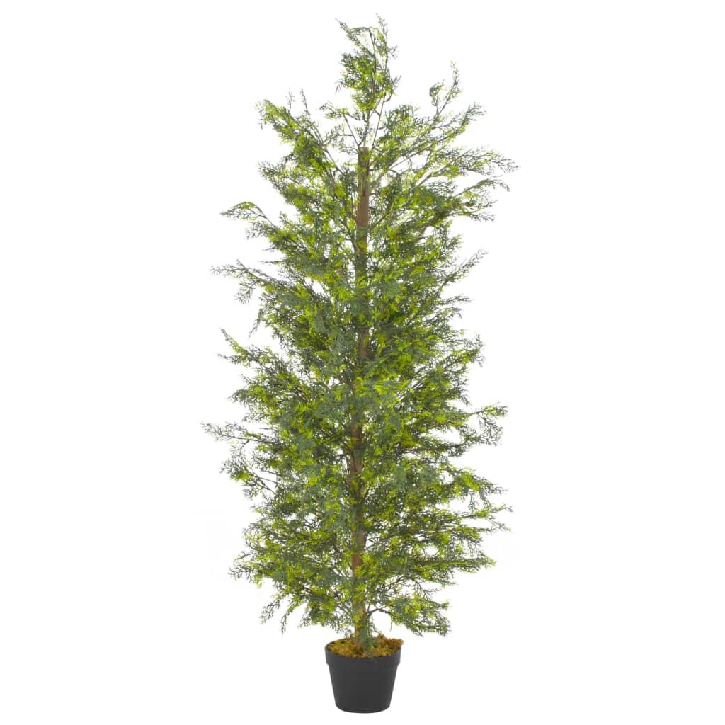 vidaXL Umelá rastlina strom cyprus s kvetináčom zelená 150 cm