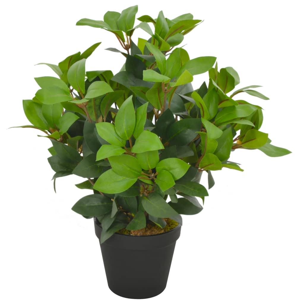 vidaXL Umelá rastlina vavrín s kvetináčom zelená 40 cm