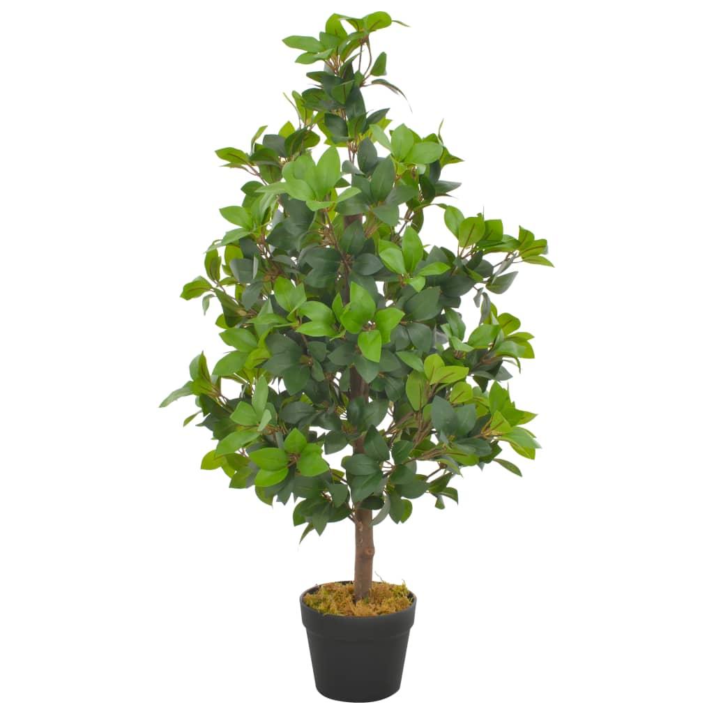 vidaXL Umelá rastlina vavrín s kvetináčom zelená 90 cm