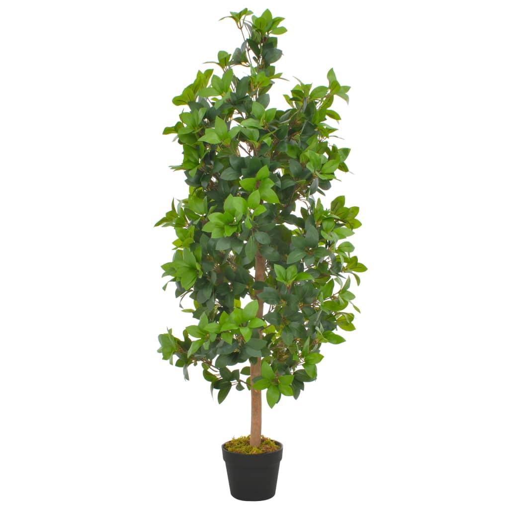 vidaXL Umelá rastlina, vavrín s kvetináčom, zelená 120 cm
