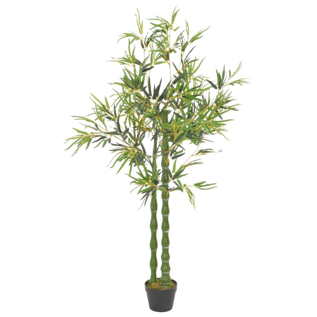 vidaXL Umelá rastlina, bambus s kvetináčom, zelená 160 cm