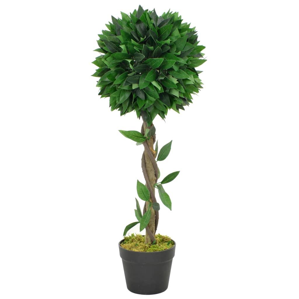 vidaXL Umelá rastlina, vavrín s kvetináčom, zelená 70 cm