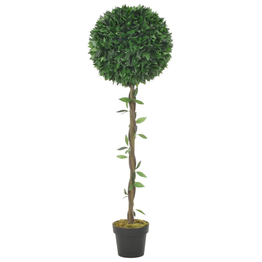 vidaXL Umelá rastlina, vavrín s kvetináčom, zelená 130 cm