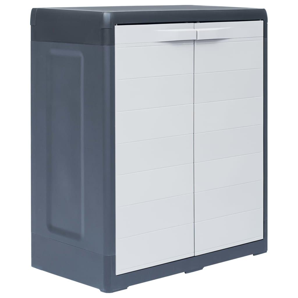 vidaXL Záhradná skladovacia skrinka XL 78x46x94 cm plastová