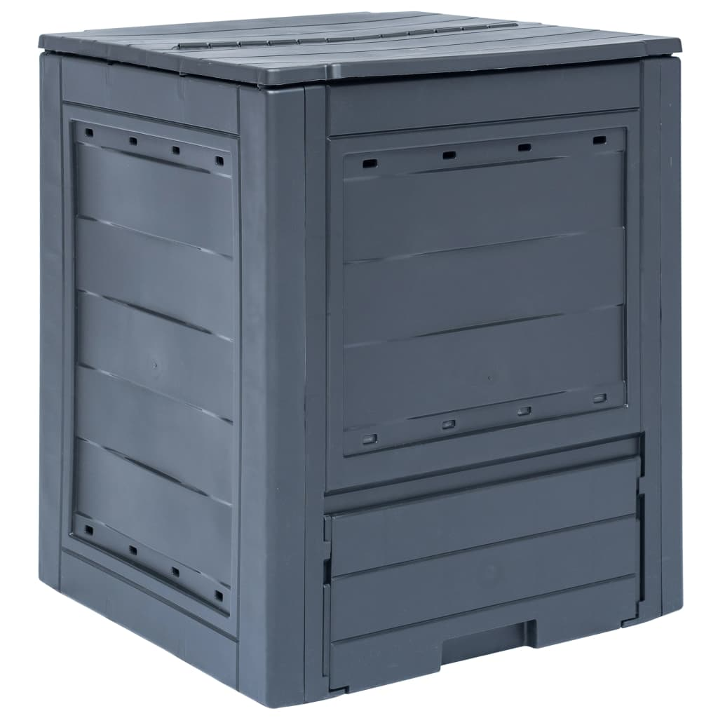 vidaXL Záhradný kompostér sivý 60x60x73 cm 260 l