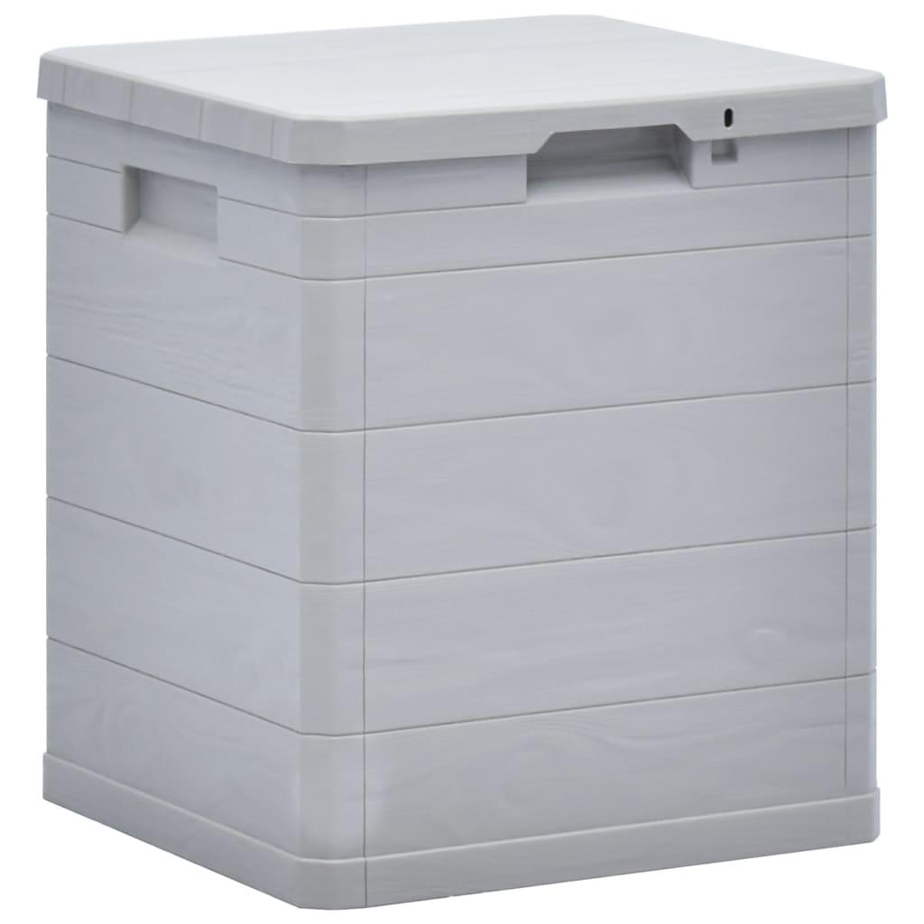 vidaXL Záhradný úložný box bledosivý 90 l