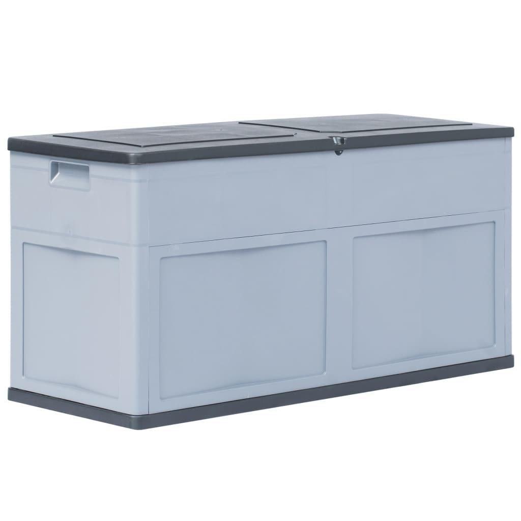 vidaXL Záhradný úložný box 320 l šedo-čierny