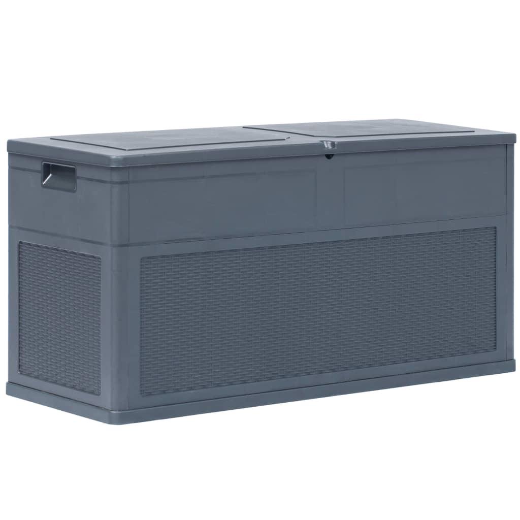 vidaXL Záhradný úložný box antracitový 320 l