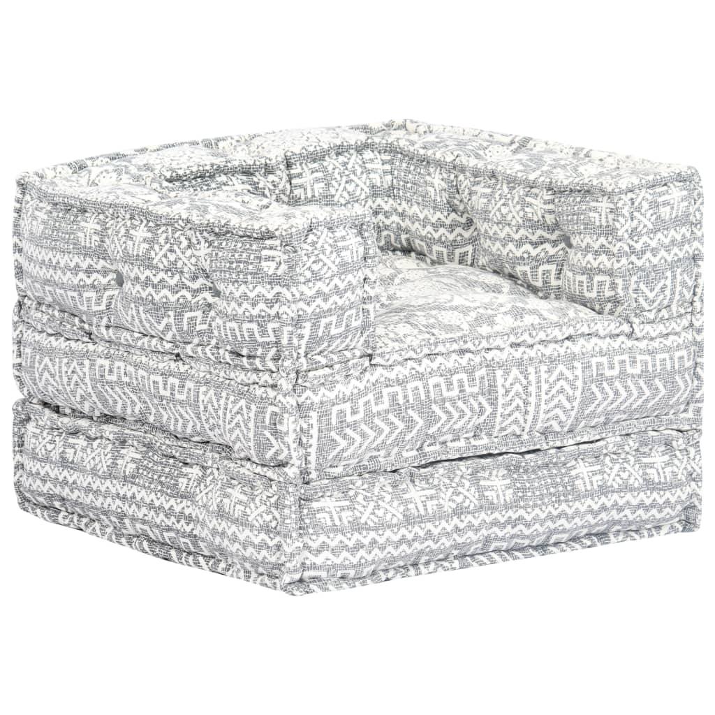 vidaXL Modulárna rozkladacia pohovka sivý textilná