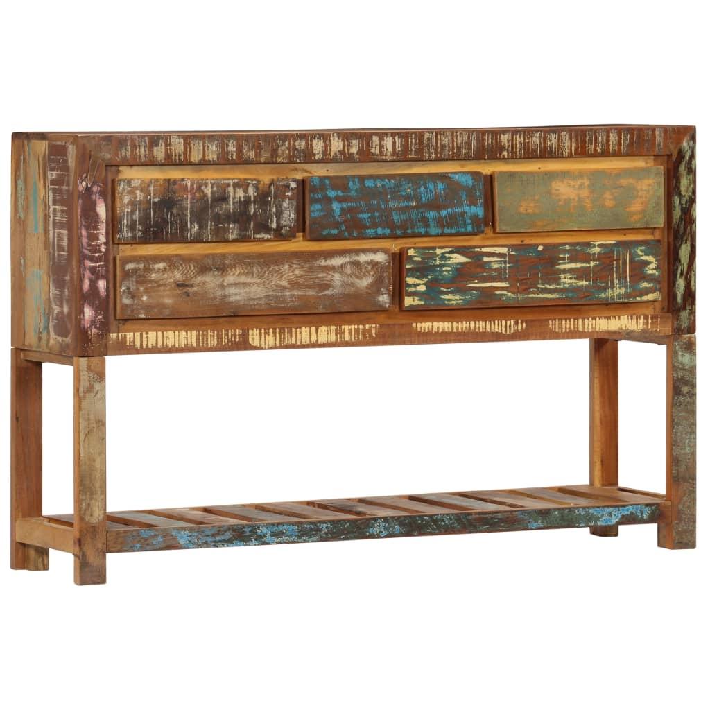 vidaXL Komoda z recyklovaného dreva 120x30x75 cm