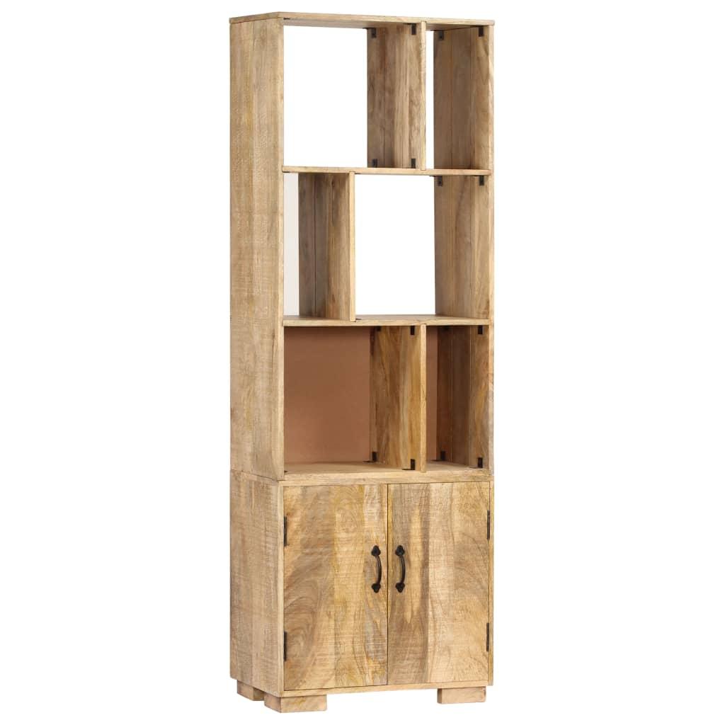 vidaXL Knižnica z mangovníkového dreva 60x35x180 cm