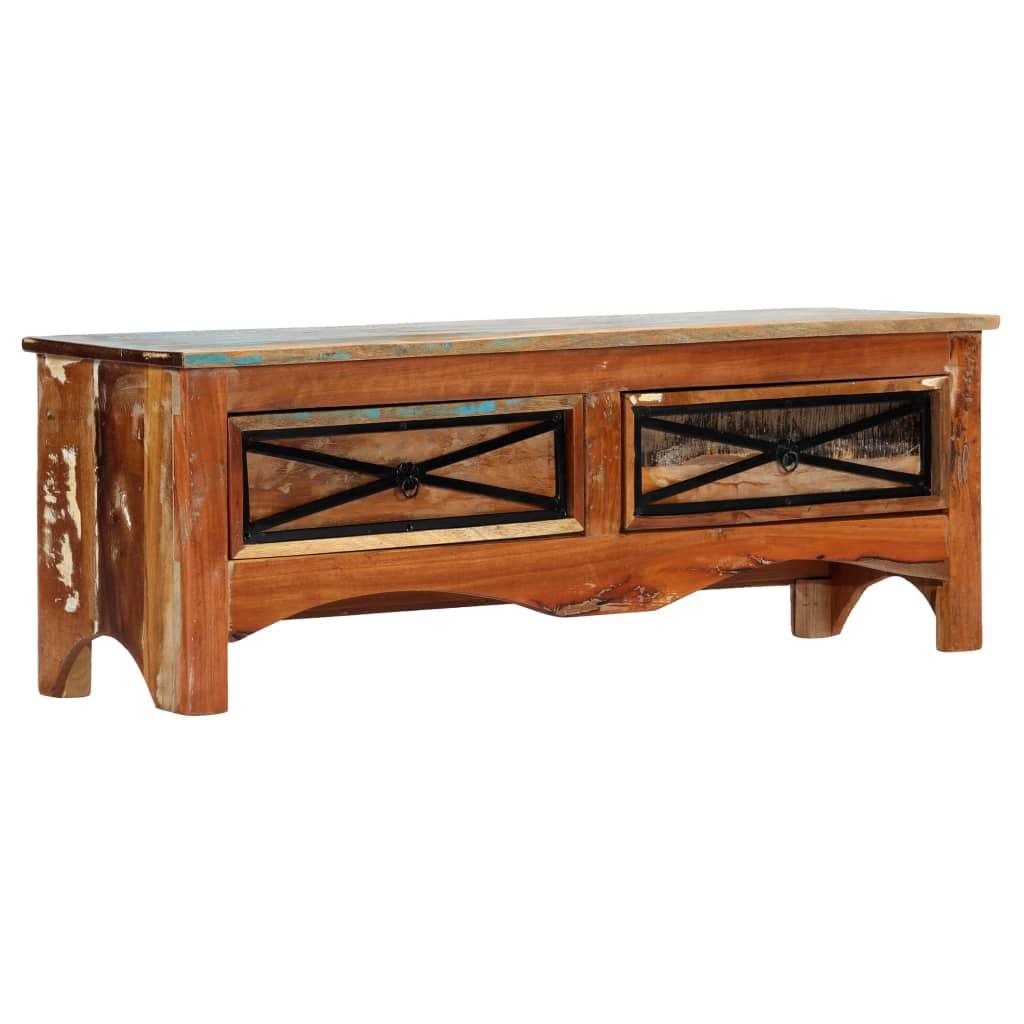 vidaXL TV stolík 120x30x40 cm masívne recyklované drevo