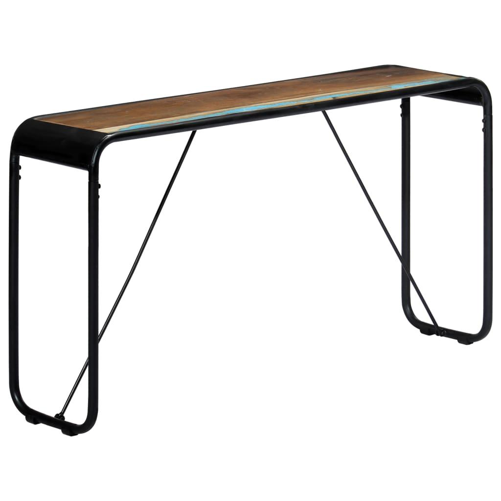 vidaXL Konzolový stolík 140x35x76 cm, recyklovaný masív