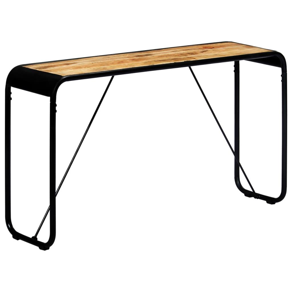 vidaXL Konzolový stolík 140x35x76 cm surové masívne mangovníkové drevo