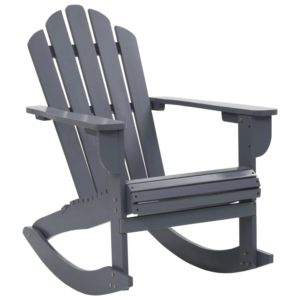 vidaXL Záhradné hojdacie kreslo sivé drevené