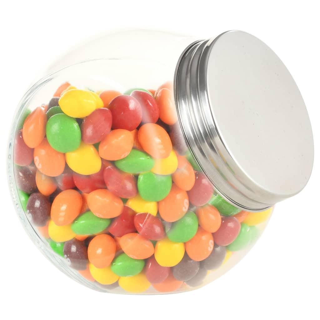 vidaXL Poháre na cukríky 6 ks 10,5x8x10,3 cm 480 ml
