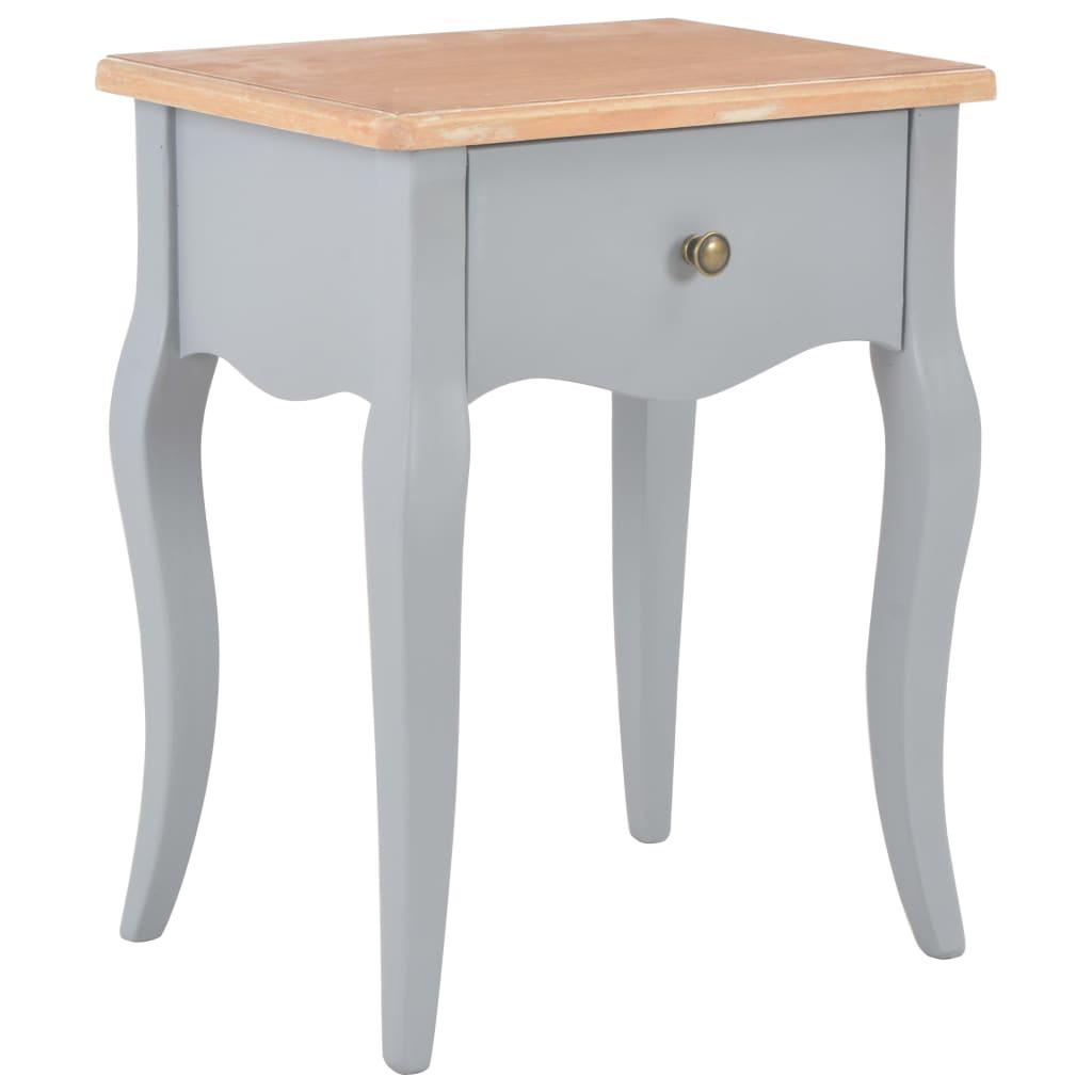 vidaXL Nočný stolík sivo-hnedý 40x30x50 cm masívne borovicové drevo